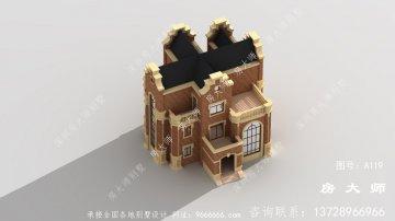 三层农村欧式别墅设计图
