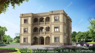 造价实惠,法式风格别墅设计图
