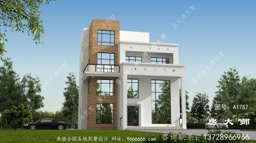 造型清新别致的四层现代风格别墅