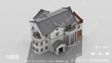 中式韵味十足的三层别墅