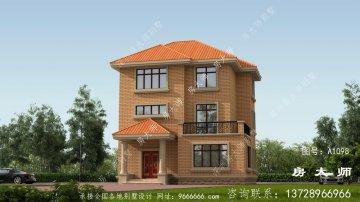 欧式风格别墅,三层乡村别墅设计