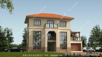欧式风格三层别墅建筑图