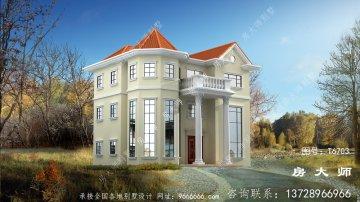 农村欧式风格三层别墅设计图