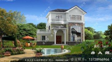 新款农村三层欧式风格别墅,建造