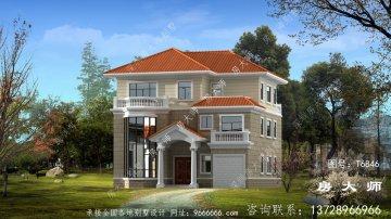 三层农村欧式风格别墅设计效果图