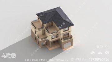 三层欧式风格气派别墅设计效果图