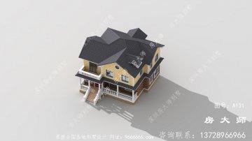 造价低外观美欧式小别墅效果图