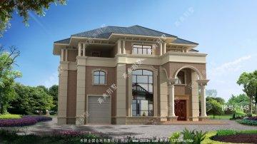 欧式别墅设计,复式三层