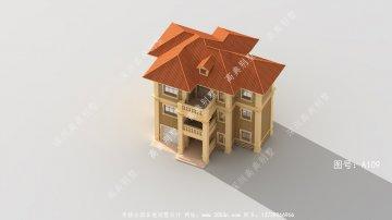 简欧实用三层别墅设计图,