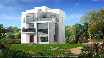 现代三层农村别墅设计图