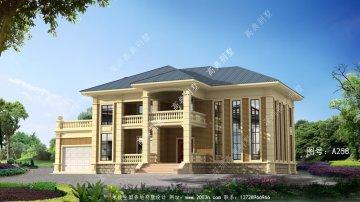 乡村欧式二层别墅房屋设计图