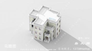 法式风格别墅外观设计效