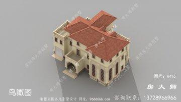 三层简单的欧式风格别墅设计详图