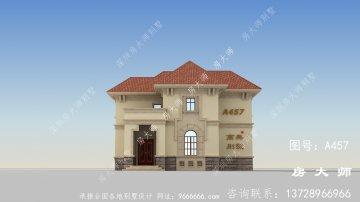 三层欧式风格别墅建筑图