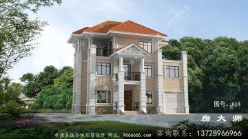 最新农村新欧式三楼别墅住宅设计