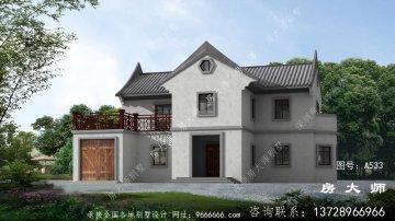 极具时尚感的二层新中式别墅