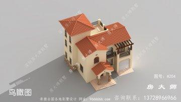 三层乡村自建房设计图,