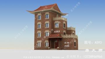 农村中式风格别墅外观效