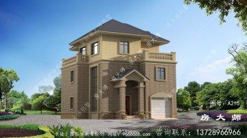 新农村欧式26平方三层别墅设计,
