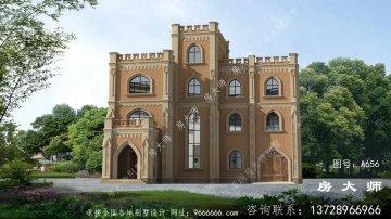 建一栋新款农村哥特式别墅,