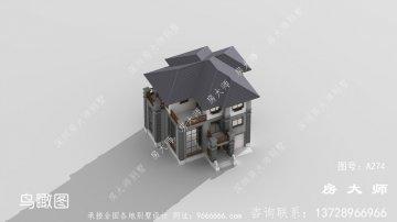 三楼中式乡村别墅设计图