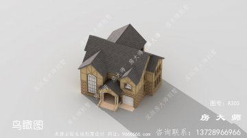 乡村简洁二层平顶房建造