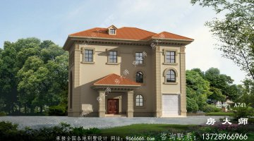 三层法式风格新农村别墅图纸