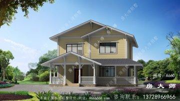 二层简欧式古典乡村别墅整套