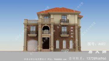 农村简易三层平自建别墅设计