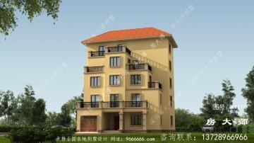 大气美观欧式风格五层别墅建筑图