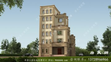 简单的六层别墅住宅设计占地10