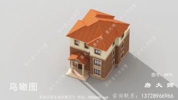 简欧乡村三层房子别墅设计图