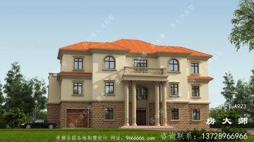农村建造三层别墅外观设