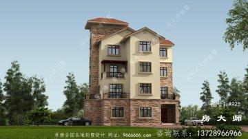 乡村奢华三层欧式别墅设计图,建