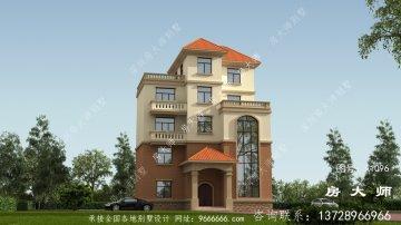 乡村欧式五层别墅的设计外观清新
