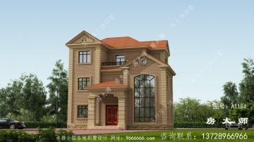 三层住宅建筑的设计。欧式风格