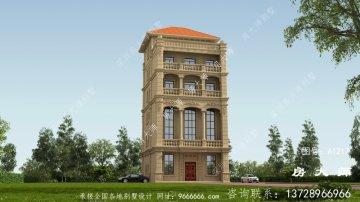 三楼别墅设计图,坡顶,简单大方