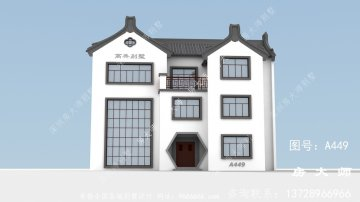 最美的三层时尚中式别墅设计图