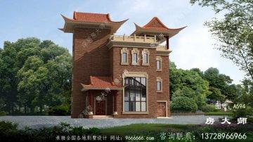 农村最美中式风格别墅设计图
