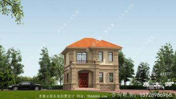二层欧式古典农村小别墅