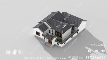 二层中式乡村别墅设计,小平方米
