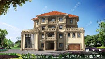 新农村中式风格四层别墅