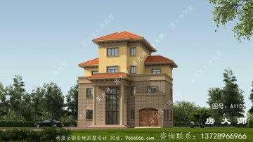 布局实用的欧式风格四层别墅设计