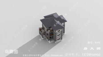 最新款的新中式风格别墅外观效果