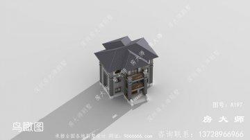 农村新中式三层小别墅设计