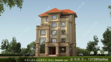 户型方正的五层欧式别墅设计图