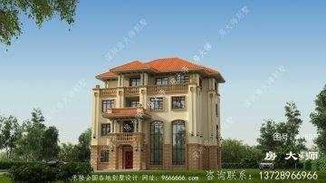 三层欧式民居别墅设计图