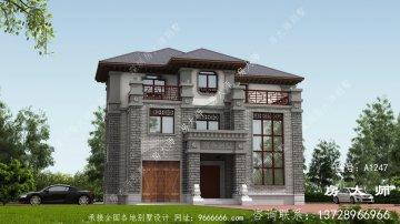三层新中式别墅设计效果