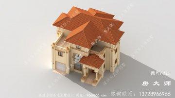 农村三层建筑设计图配车库和露台