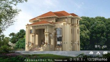 199平三层欧式别墅设计图